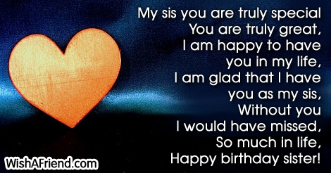 Sister Birthday Sayings