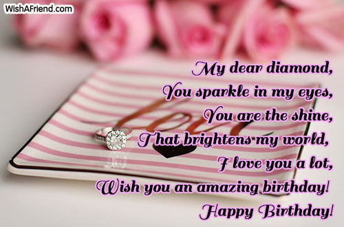 Happy Birthday Love Quotes | My Dear Diamond You Sparkle In My Love Birthday Quote