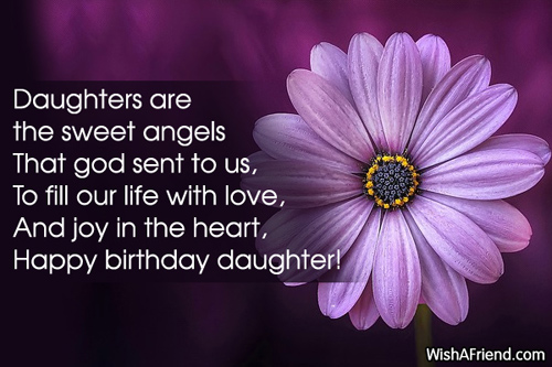 Daughters Are The Sweet Angels That Daughter Birthday Saying