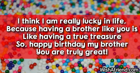Brother Birthday Sayings
