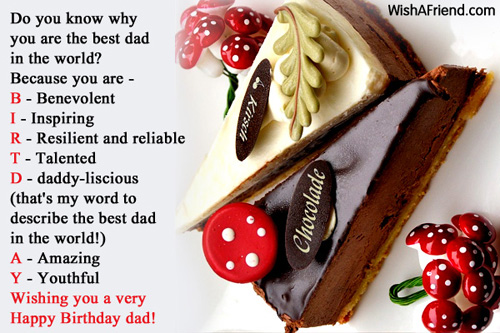 998 Dad Birthday Wishes