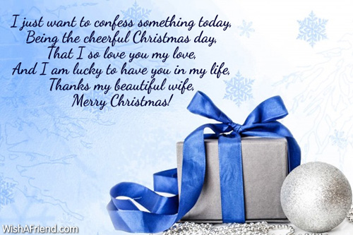 10067 christmas messages for wife