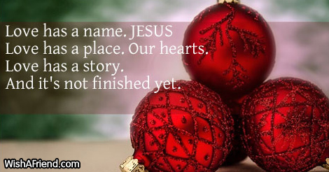 Love has a name. JESUS Love has, Inspirational Christmas Quote