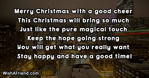 Merry Christmas With A Good Cheer Inspirational Christmas Quote