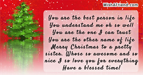 Text Me Merry Christmas.Christmas Messages For Sister