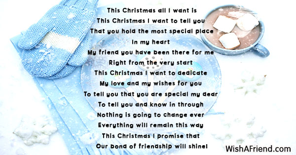 Poems About Christmas.Christmas Poems For Friends