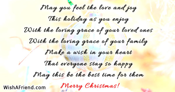 may you feel the love and christmas quote for family