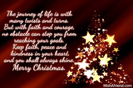 The journey of life is with, Merry Christmas Message