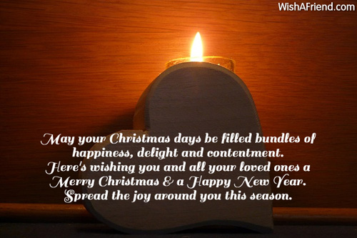May your christmas days be filled christmas card message 6100 christmas card messages m4hsunfo