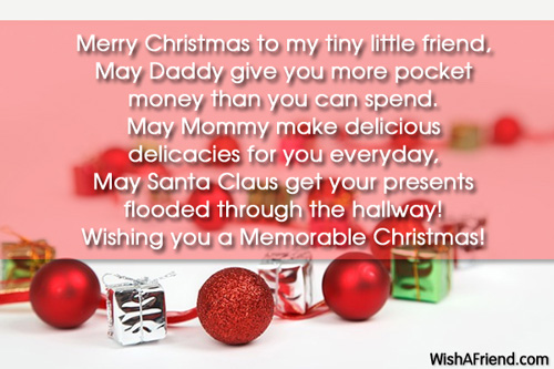 Merry Christmas To My Tiny Little Friend , Christmas Poem For Children