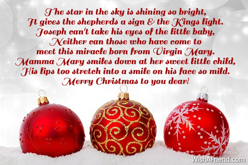 the star in the sky is shining so bright christian christmas poem