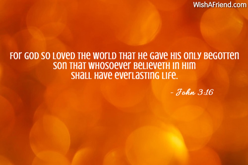 For God so loved the world, Religious Christmas Quote