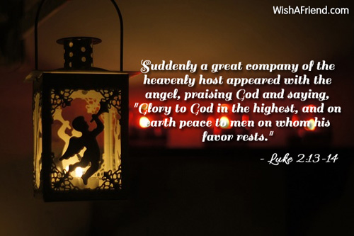 Religious Christmas Quotes Amazing Suddenly A Great Company Of The Religious Christmas Quote