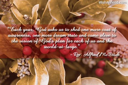 each year god asks us to christian christmas quote