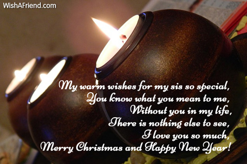My warm wishes for my sis christmas message for sister 7180 christmas messages for sister m4hsunfo