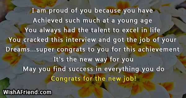 I am proud of you because congratulations for new job 21447 congratulations for new job thecheapjerseys Images