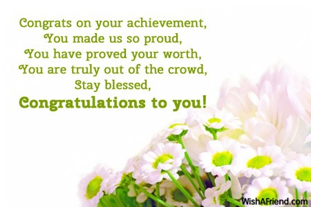 Congratulations Messages - Page 2
