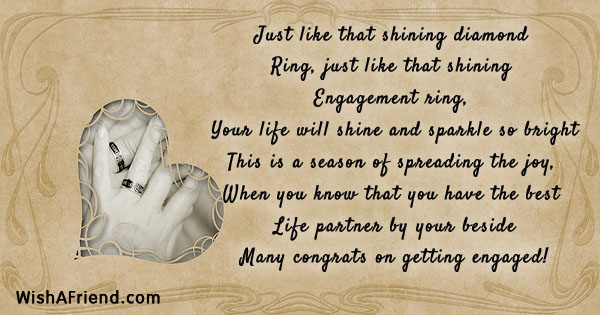 Just Like That Shining Diamond Ring Engagement Quote