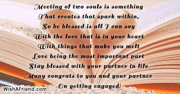meeting of two souls is something engagement quote