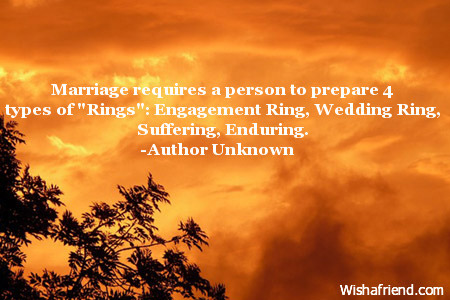 Marriage requires a person to prepare Engagement Quote
