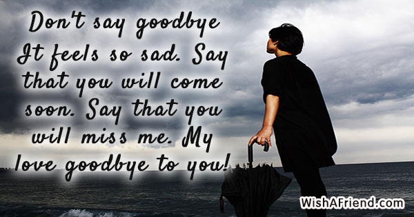 Goodbye Messages For Boyfriend