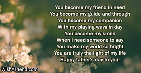 You become my friend in need fathers day message 20815 fathers day messages m4hsunfo