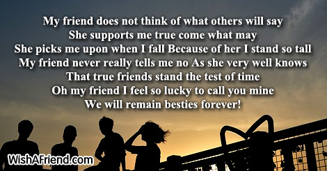 Do Not Think True Friends Poem