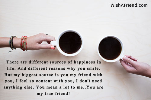 There Are Different Sources Of Happiness Best Friend Quote