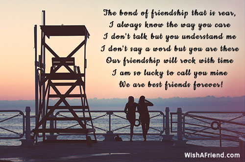 The bond of friendship that is, Best Friend Quote