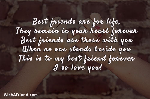 Best Friends Are For Life They Best Friend Quote