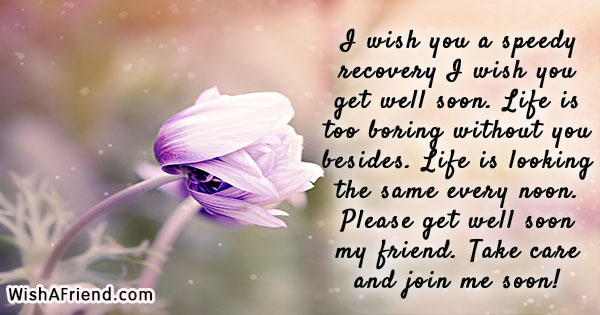 I Wish You A Speedy Recovery Get Well
