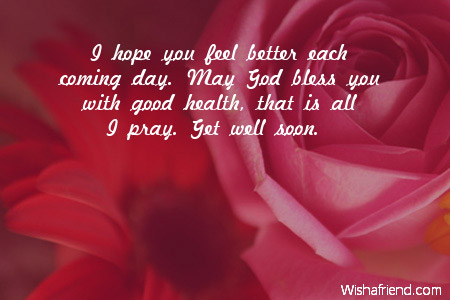 I Hope You Feel Better Each Get Well Soon Message For Kids
