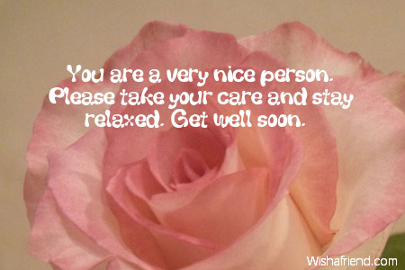 Your a nice person