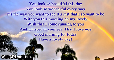 You Look So Pretty Good Morning Poem For Her