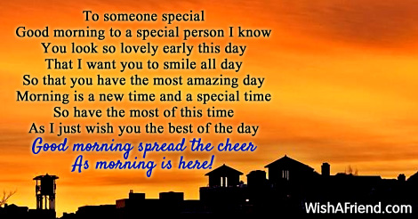 you are someone special poem
