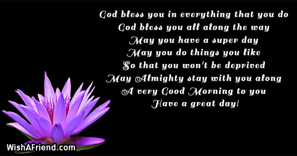 Christian Good Morning Message God Bless You In Everything That