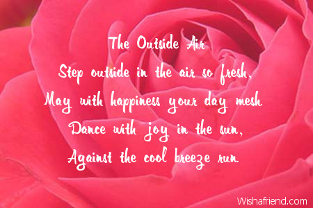 The Outside Air, Good Morning Poem