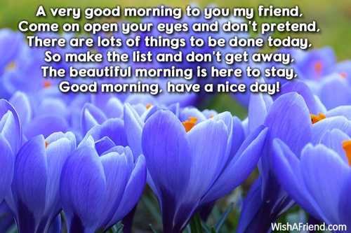 Good Morning Message, A very good morning to you