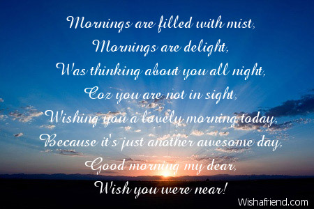 Good Morning Poem for Her, Sweet morning wishes