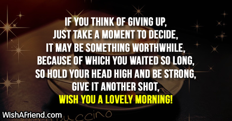 Motivational Good Morning Message, If you think of giving