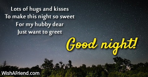 Lots Of Hugs And Kisses To Good Night Message For Husband