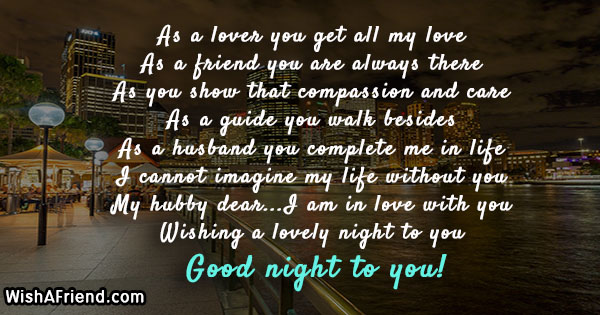 Good Night Messages For Husband