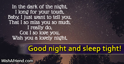 In The Dark Of The Night Good Night Message For Girlfriend