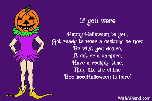 If You Were Halloween Poem