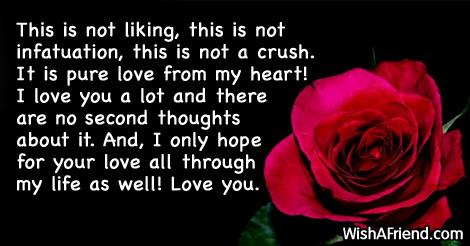 I love you short letter