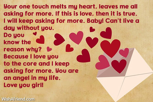 Your One Touch Melts My Heart Love Letters For Her