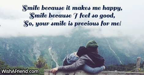 Smile Because It Makes Me Happy Cute Message For Boyfriend