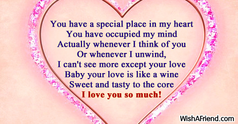 You have a special place in, Love Message For Boyfriend