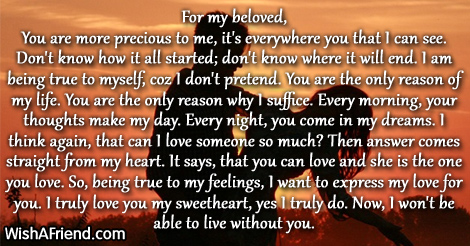 For my beloved You Love Letters for Her