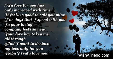 My Love For You Is So True Short Love Poem